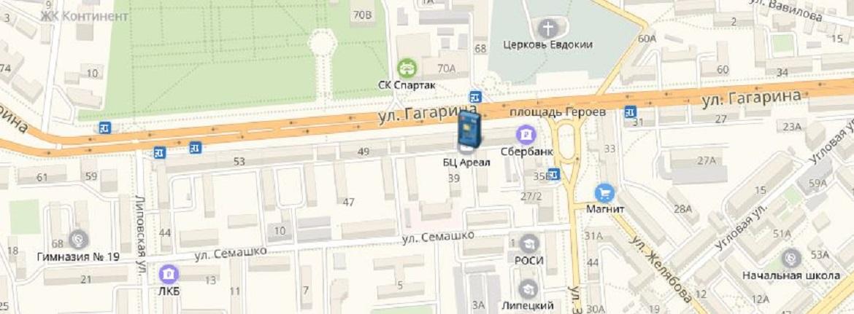 Банкоматы и офисы ОАО «БайкалИнвестБанк» в Липецке