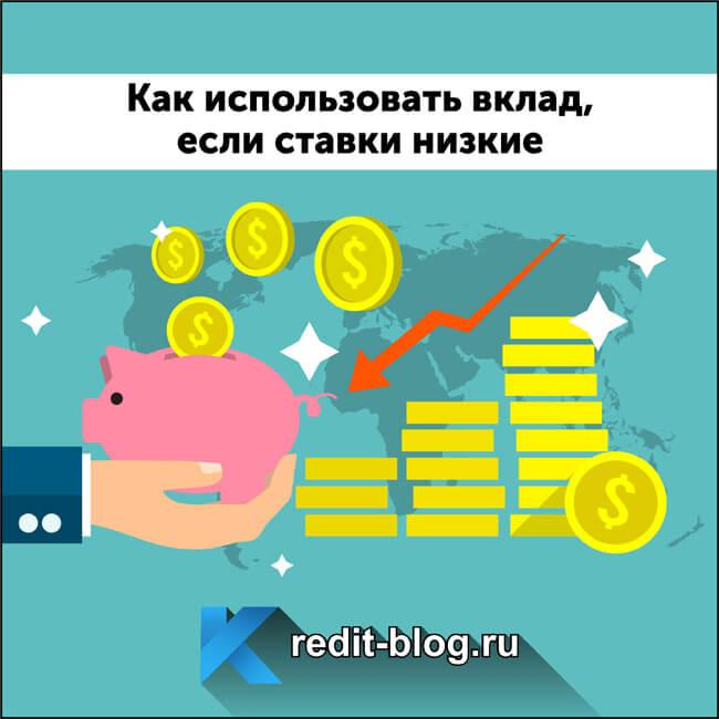Секреты использования вклада при низких ставках