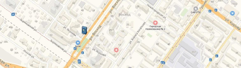 Банкоматы и офисы ОАО «БайкалИнвестБанк» в Новосибирске