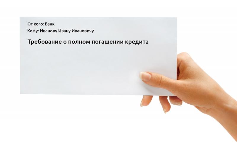 требование банка о досрочном погашении кредита при банкротстве