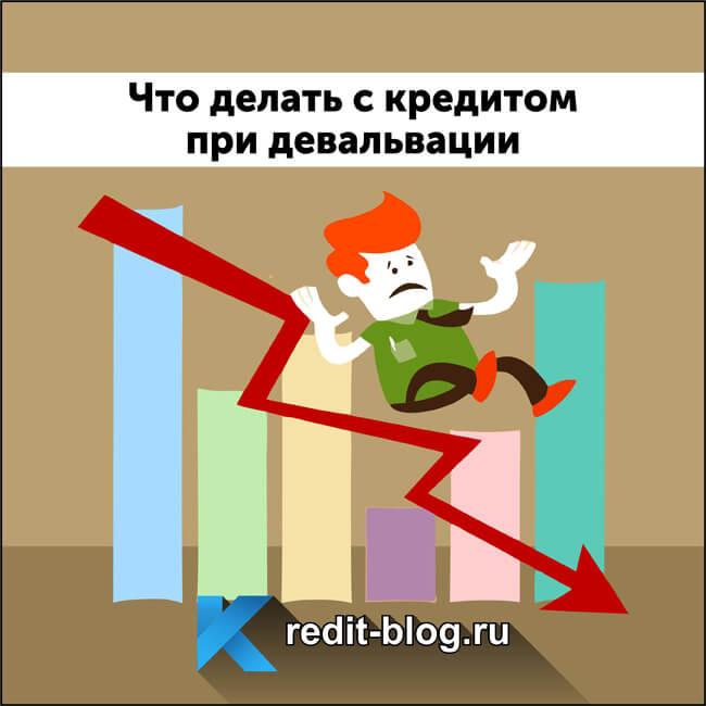 Что делать с кредитом при девальвации рубля