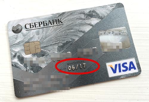 Срок действия кредитной карты
