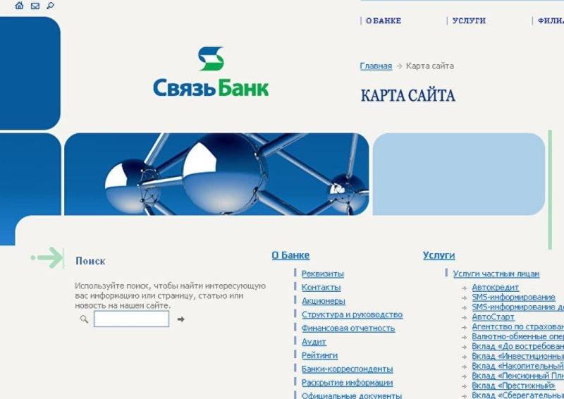 Связь Банк: реквизиты