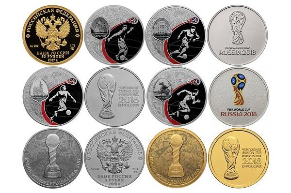Монеты к ЧМ по футболу 2018 в Сбербанке: купить, цена