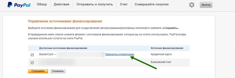 Paypal: комиссия за перевод