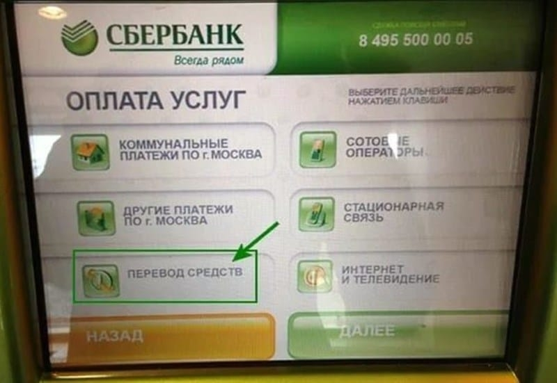 Как перевести деньги с карты Сбербанка на карту РНКБ