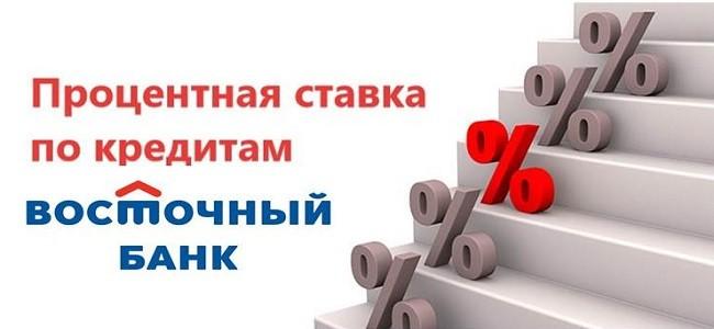 Проценты по кредиту в Восточном Банке
