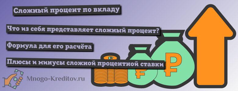 Сложный процент для банковских вкладов - что это?