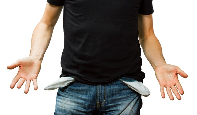 Как поступить, если у должника нет денег и имущества, а долг растет