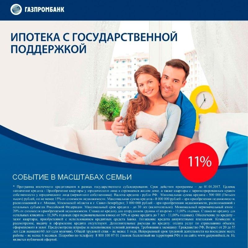 Ипотека Газпромбанка: условия, процентная ставка
