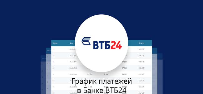 Как посмотреть график платежей по кредиту ВТБ 24