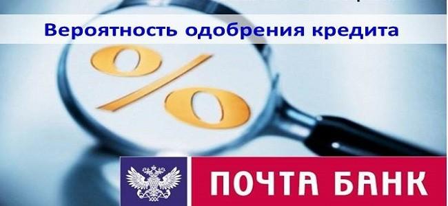 Процент одобрения кредитов в Почта Банке