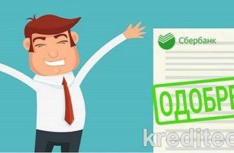 Вероятность одобрения кредита в Сбербанке зарплатным клиентам