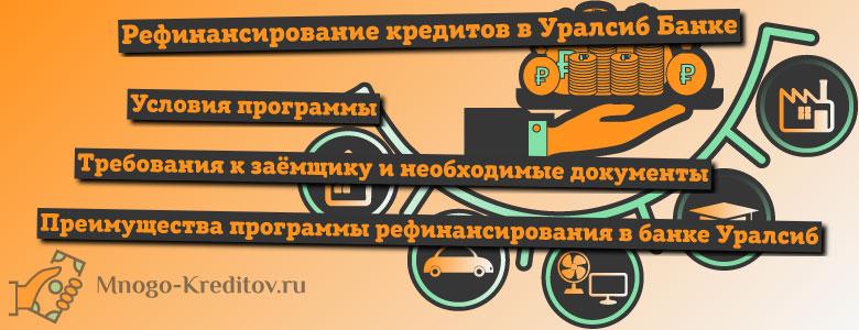 Рефинансирование кредитов в банке УРАЛСИБ — условия, отзывы и онлайн-заявка