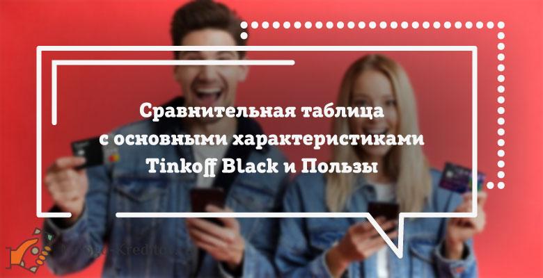 Сравнение карт: Tinkoff Black от Тинькофф Банка и Польза от Хоум Кредит Банка