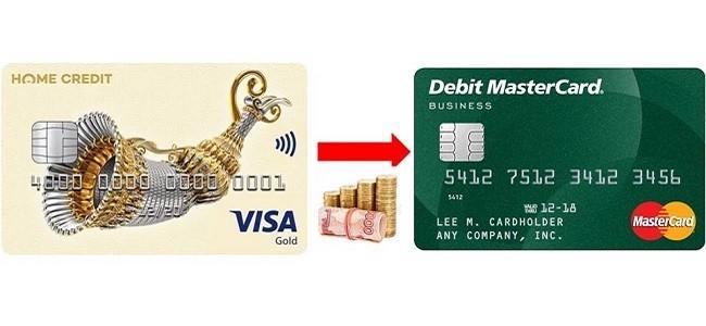 Можно ли с кредитной карты Хоум Кредит перевести деньги на другую карту