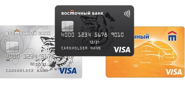 Тарифы кредитных карт Восточного Банка